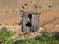 Mur en pisé, Isère, septembre 2021.© E.Thirault